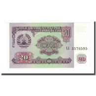Billet, Tajikistan, 20 Rubles, 1994, KM:4a, NEUF - Tadjikistan