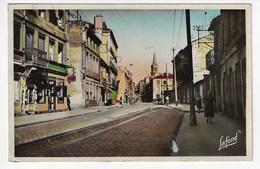 42 - LA RICAMARIE - La Grande Rue Et Route St Etienne - Animée - 1952 (H143) - France