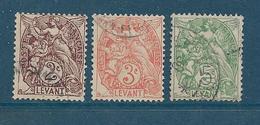 Colonies Timbre Du Levant De 1902/20 N°10/11 + N°13 Oblitérés - Oblitérés
