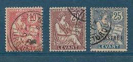 Colonies Timbre Du Levant De 1902/20 N°14 + N°16 Et 17 Oblitérés - Oblitérés