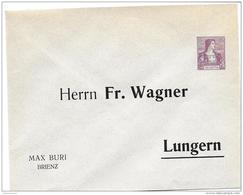 """86 - 68 - Entier Postal Privé Neuf """"Fr. Wagner Lungern - Max Buri Brienz"""" - Postwaardestukken"""
