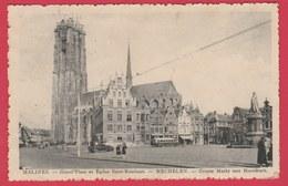Mechelen- Groote Markt Met Hoofdkerk ... Oude Autobus - 1938  ( Verso Zien ) - Mechelen