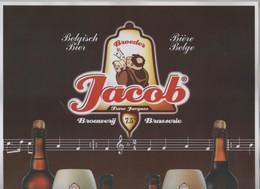 AFFICHE BRASSERIE BROEDER JACOB WEZEMAAL BELGIQUE - FRERE JACQUES, BIERES ET MUSIQUE - FORMAT 30 X 42 CM - VOIR SCANNERS - Autres Collections