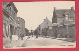 Ledegem Statie Straat ... Mooie Animatie , Windmolen -190?  ( Verso Zien ) - Ledegem