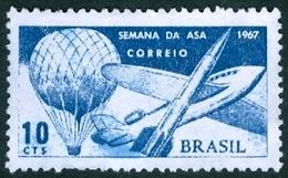BRAZIL #1062   -  BALLOONS  - MONTGOLFIÈRE - MINT - 1967 - Brazil