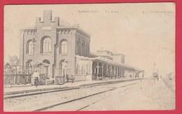 Aulnois-Quévy - La Gare  -1912 ( Voir Verso ) - Quévy