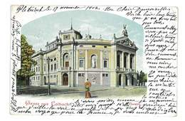CPA SLOVENIE Ljubljana GRUSS AUS LAIBACH THEATER - Slovénie