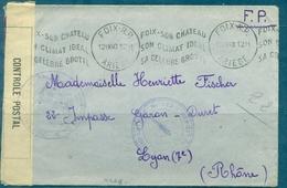 GUERRE 39 / 45  Flamma KRAG De FOIX Du 12.9.1940 Pour LYON En FP Avec Censure - Marcophilie (Lettres)