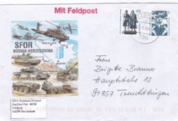 German Feldpost From Bosnia I Herzegovina: SanEins Vbd In SFOR Posted Feldpost 730 1999   (DD6-48) - Militaria