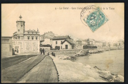LA CIOTAT - 13- Gare Ciotat Ville Et Boulevard De La Tasse - CPA Voyagée 1904-Recto Verso- Paypal Sans Frais - La Ciotat