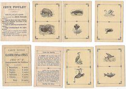 Cartes Jeux Poulet - Classification Des Animaux - Jeu N° 2 (30 Cartes = 60 Animaux, Notice, Pas D'emballage) - Jeux De Société