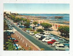 Cp , Automobile , DS , 404 , 4 Cv , 4L..... , 33 ,ARCACHON , Promenade Et La Jetée THIERS ,  Voyagée , Ed. Draeger - Passenger Cars