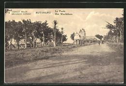 CPA Rutshuru, Vue De La Rue, Le Poste - Congo - Kinshasa (ex Zaire)