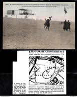 1494 AV045 AK PC CPA ISSY LES MOULINEAUX FARMAN VA PASSER LE POTEAU D ARRIVEE DANS LE GRAND PRIX 13 JANVIER 1908 TTB - ....-1914: Precursori