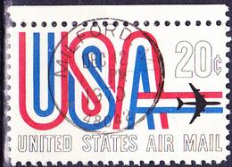 USA - Schriftbild USA Mit Düsenverkehrsflugzeugt (MiNr: 974) 1968 - Gest Used Obl - Air Mail