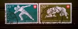FRANCOBOLLI STAMPS SVIZZERA HELVETIA 1950 USED SERIE PRO PATRIA 100 ANNI RAYON STAMPS CON ANNULLO SUISSE - Svizzera