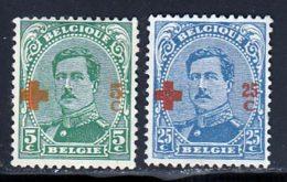 Belgique 1918 Yvert 152 - 156 (*) TB Neuf Sans Gomme - 1918 Croix-Rouge