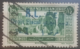 NO11 - Lebanon 1927 Fiscal Revenue Stamp - 1925 Postage 1p25 Overprinted R.L. Droit Fiscal Ps. 1 In Blue - Lebanon