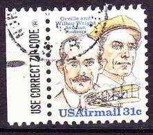 USA - Brüder Wright (MiNr: 1362) 1973 - Gest Used Obl  Beachten ZIP-CODE-Anhängsel - Air Mail