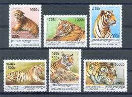 Mtw883 FAUNA WILDE KAT TIJGER WILD CAT TIGER KATZE TIGRE CAMBODGE CAMBODJA 1998 PF/MNH # - Raubkatzen