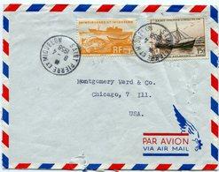 Env. Du 08/04/1958 Pour Les USA Avec N347+ N°361 PAYPAL Not Accept - St.Pierre Et Miquelon