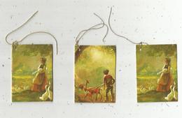 étiquette De Paquet Cadeau , Chromo , LOT DE 3 ETIQUETTES VIERGES - Vieux Papiers