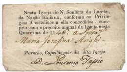 Portugal 1846. Igreja Nesta Quaresma... - Historical Documents