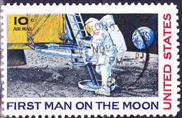 USA - Erste Bemannte Mondlandung (MiNr: 990) 1969 - Gest Used Obl - Air Mail
