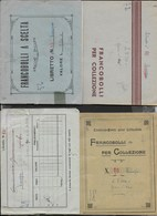 LOTTO 4 LIBRETTI PER FRANCOBOLLI - FORMATO PICCOLO 14,50X11 USATI - Contenitore Per Francobolli