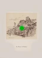 Gravure De Jean Müller  LES RUINES DE POULSEUR (  Comblain-au-Pont ) - Vieux Papiers