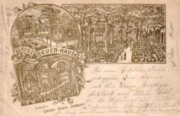 """Hannover, Vorläufer, """"Gruss Vom Neuen Haus"""", 1896 Von Und Nach Hannover Versandt - Hannover"""