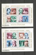 ROUMANIE - 2 BLOCS NEUFS** N° 159/160 - 1983 - CELEBRITES - VOIR SCAN - 1948-.... Republics