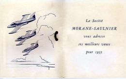 """Carton """" La Société MORANE-SAULNIER Vous Souhaite Ses Meilleurs Voeux Pour 1955 (880)_D219 - Aviation"""