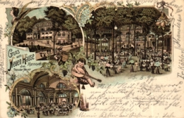 """Hannover, Farb-Litho """"Gruss Vom Neuen Haus"""", 1897 - Interessante Rückseite ! - - Hannover"""