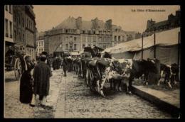 22 - Dinan Au Marché - Vacher Vaches Bestiaux Cote D'Emeraude #00741 - Dinan