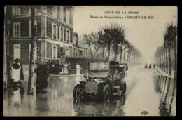 94 - Choisy-le-Roi Crue De La Seine Route De Fontainbleau Tacot Dans L'eau #00586 - Choisy Le Roi