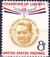 USA - 50. Geburtstag Von Ramón Magsaysay (MiNr: 719) 1957 - Gest Used Obl - United States