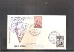 Cover Antartida Argentina To Sydney  - Base De Ejercito General Belgrano - 1971 (to See) - Polarmarken