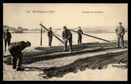 62 - Boulogne-sur-Mer Groupe De Pècheurs Quai Filet #00329 - Boulogne Sur Mer