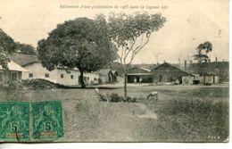 N°65765 -cpa Côte D'Ivoire -batiments D'une Platation De Café Dans La Lagune Aby- - Ivory Coast