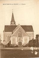 49 -   MONTREUIL SUR MAINE -  Carte De Correspondancephoto De L Eglise (att Petite Tache Mittes)63 - France
