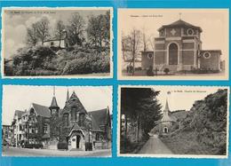 BELGIË Kerken, Kapellen, Eglises, Chapelles, Lot Van 60 Postkaarten, 60 Cartes Postales - Postkaarten