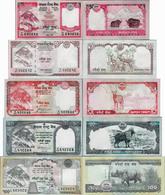 Nepal 2008 - Set 5+10+20+50+100 Rupees - Pick 60-64 UNC - Nepal