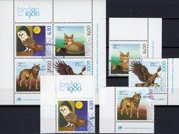Zoo Lisboa LONDON 1980 Portugal 1490/3+Block 30 O 7€ Fuchs Eule Wolf Adler Hojita Ss Bloc Fauna WWF Sheet Bf Europa - Blokken & Velletjes