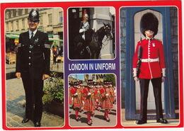 London In Uniform: London Policeman, Horseguard, Grenadier Guard, Yeoman Of The Guard  - (BOBBY) - Dennis Print - Politie-Rijkswacht