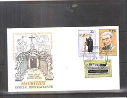 FDC Mauritius 1979 - Béatification Du Père Laval - Série Complète - Maurice (1968-...)
