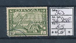 BELGIUM COB 363 USED SHORT PERFORATION - Used Stamps