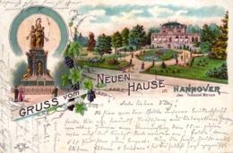 """Hannover, Farb-Litho """"Gruss Vom Neuen Hause"""", 1899 Nach Celle Versandt - Hannover"""