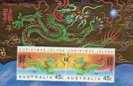 Christmas Island 2000 Year Of The Dragon MS - Christmas Island