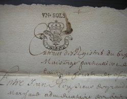 1682 Généralité De Poitiers, Joli Cachet Sur Document à Déchiffrer. - Manuscripts